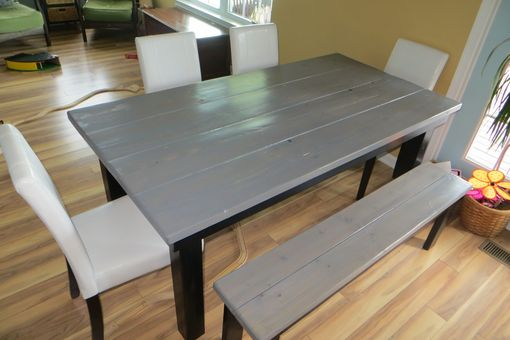 Custom Made Rustic Farmhouse Trestle Dining Table