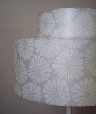 Custom Made Hand Printed Lamp Shade