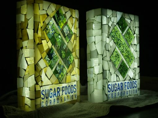 Custom Made Back-Lit Glass Mosaic Logo