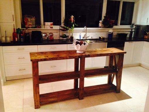 Custom Made 6ft Barn Style Farm House Style Rustic Kitchen Island / Entry Way Table