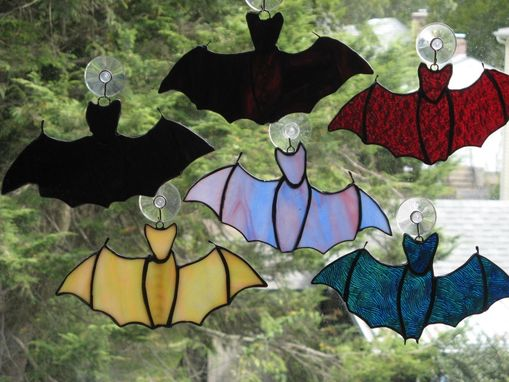 Custom Made Custom Stained Glass Bats