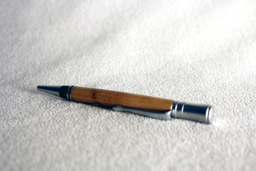Custom Made Executive Pen In Olive Wood. Satin Finished Accents