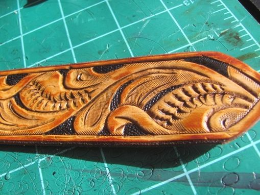 Custom Made Hand Carved Dog Collar, Personalized
