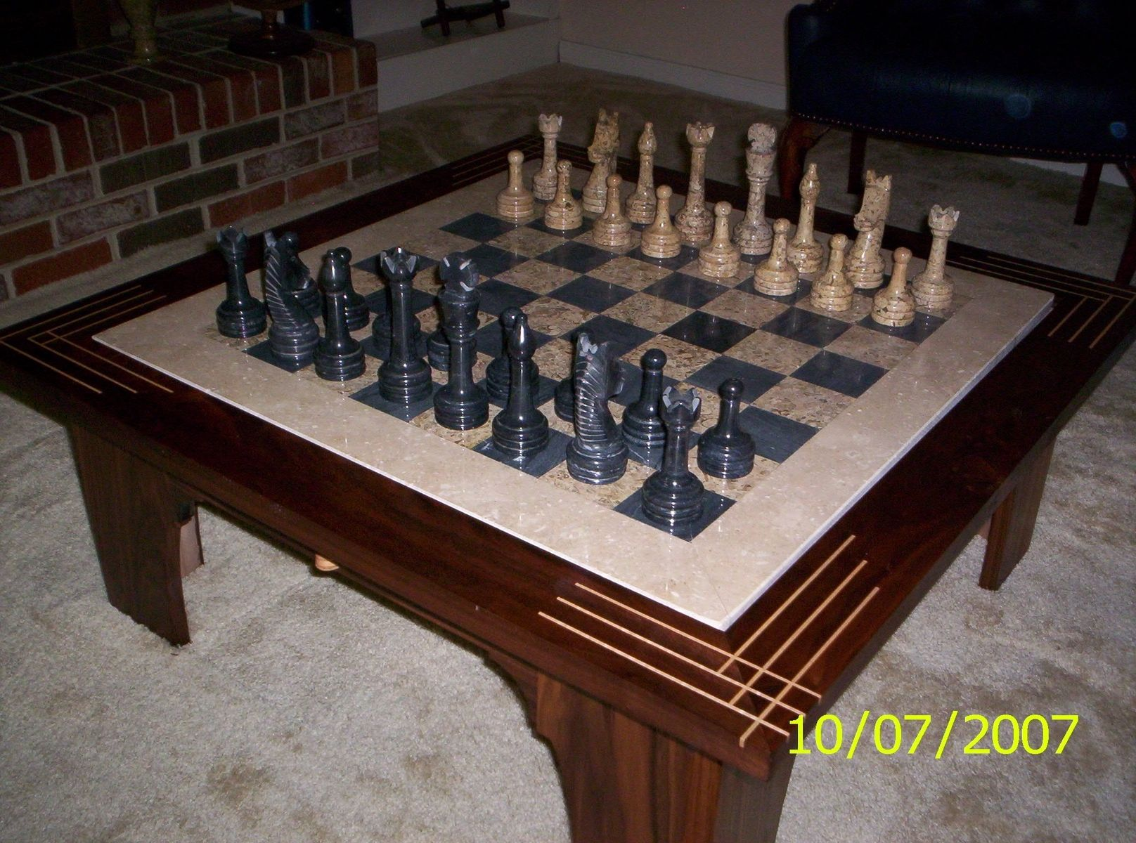 Hand Made Low Chess Table By Harman Wood Design