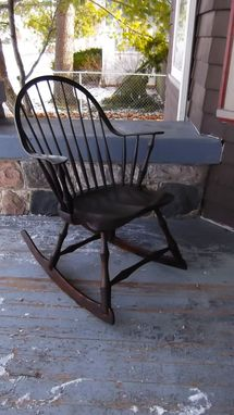 Custom Made Rocking Chair Continuous Arm Windsor Chair