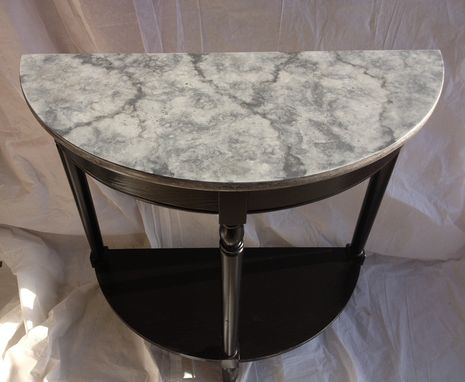 Custom Made Entry Table With Cast Stone Top