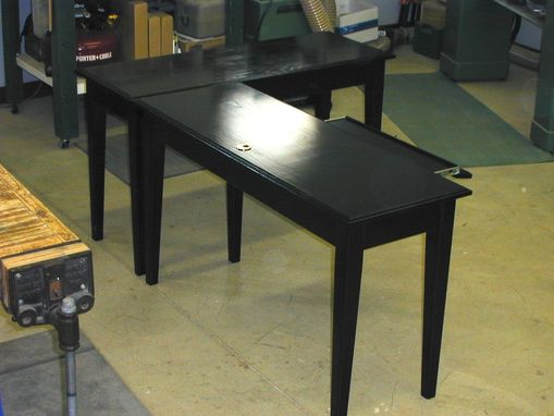 "Custom Made ""Ebonized"" Computer Table And Side Work Table"