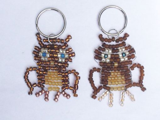 Custom Made Beaded Insect And Animal Keychains/Zipper Pulls
