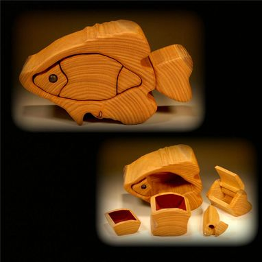 Custom Made Fish Form Treasure Box