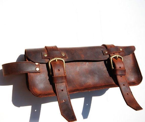 Custom Made Leather Dopp Bag Traveling Kit Makeup Shaving