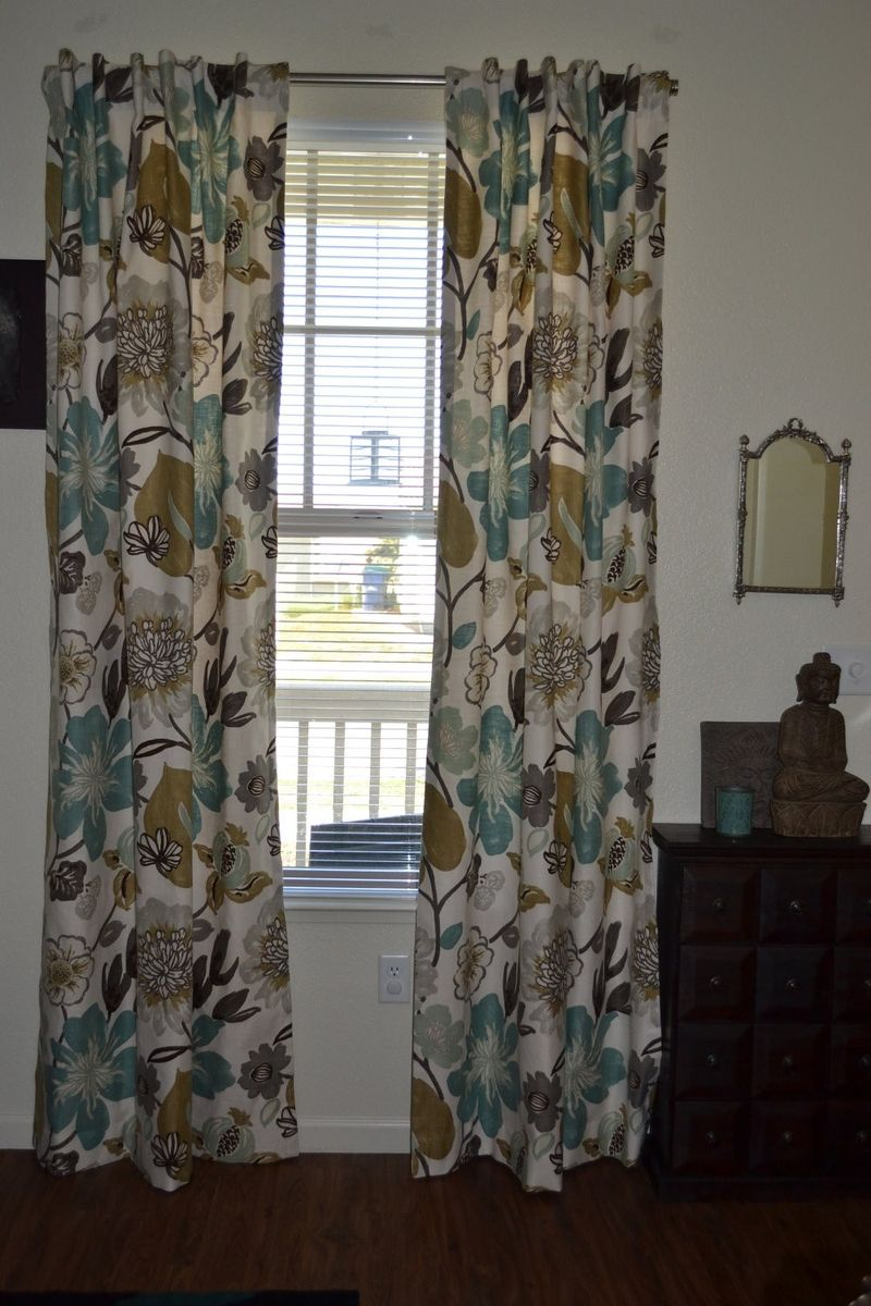 Hand Made Custom Curtains Large Floral Pattern Gorgeous