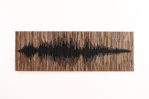 Custom Made Sound Wave, Wood Wall Art, Large Wall Art, Wood Wall Sculpture, Reclaimed Wood Art, Wood Art