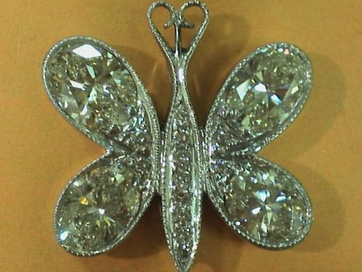 Custom Made Diamond Butterfly Pendant