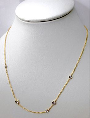 Custom Made One Third Of Carat Diamond By Yard Necklace
