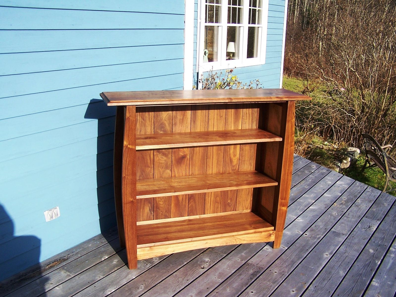 Hand Made Walnut Bookcase By Blue Hill Cabinet Woodwork