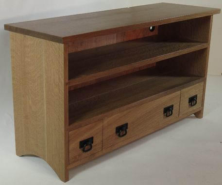 Custom Made Oak Tv Console