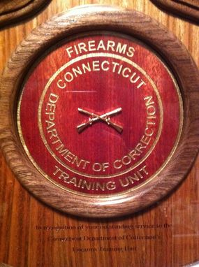 Custom Made Firearms Instructor Plaque