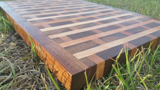 Custom Made End Grain Maple And Walnut Brick Cutting Board