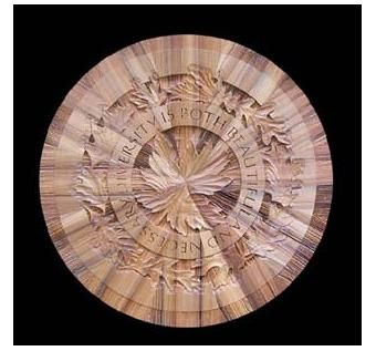 Custom Made Cypress Mandala Wall Sculpture