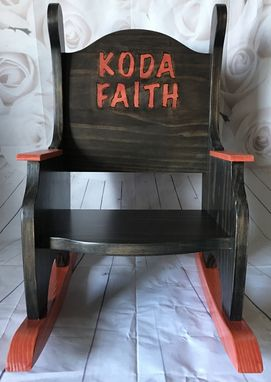 Custom Made Personalized Child's Rocking Chair