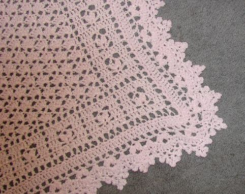 Custom Made Lacey Crochet Rosebuds Baby Blanket - Made To Order - Choose Your Color