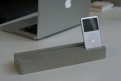 Custom Made Concrete Ipad + Iphone Docking/Charging Stand