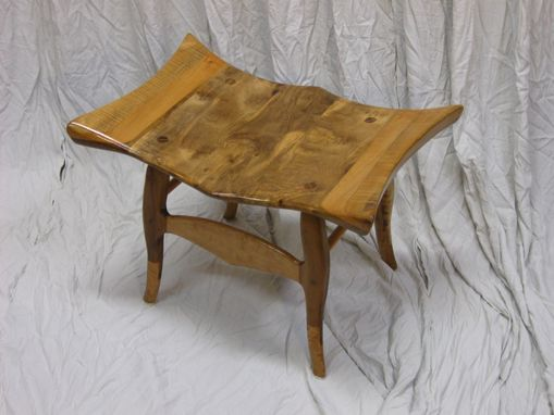 Custom Made Maple And Myrtlewood Bench