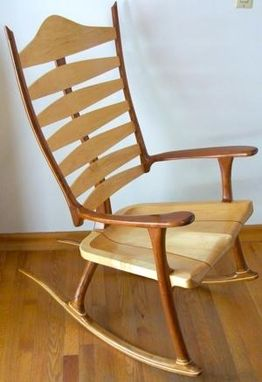 Custom Made The Best-In-Show, Award-Winning Bonn Zero-G Custom Rocking Chair