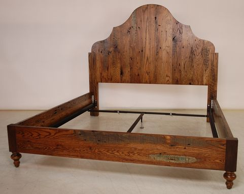 Custom Made Reclaimed Oak Bed