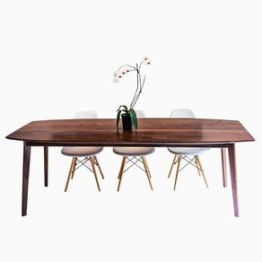 a65edd866eb04 The Santa Monica  Solid Black Walnut Dining Table