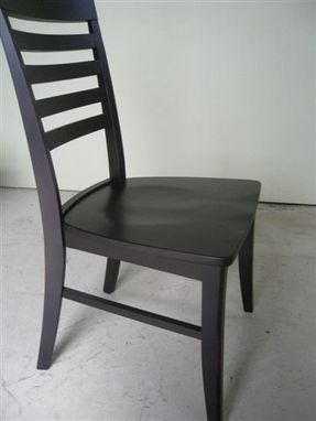 Custom Made Black Mission Style Chair & Stool