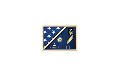 Custom Made Military Flag Case, Military Certificate Flag Box