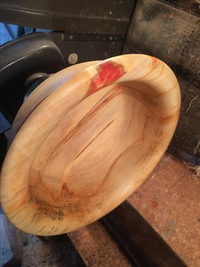 Custom Made Red Box Elder Bowl