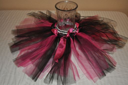 Custom Made Crocheted Tutu Skirt, Custom With 2-3 Colors Of Tulle And Coordinating Ribbon.