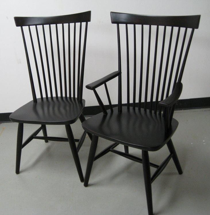 Custom Made Black Federal Style Dining Chair