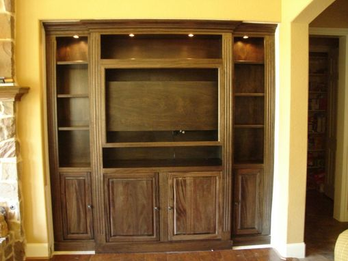 Custom Made Mahogany Media Center