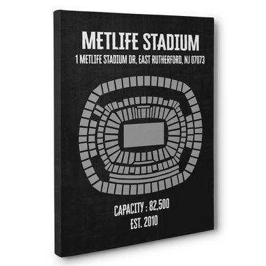 Custom Made Metlife Stadium Canvas Wall Art – Multiple Colors