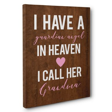 Custom Made I Have Guardian Angel Grandma Canvas Wall Art