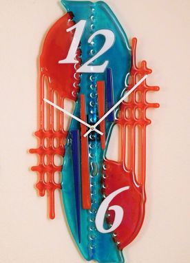 Custom Made A Large Decorative Glass Clock