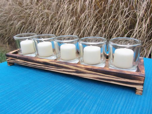 Custom Made Reclaimed Wood Candle Holder Made From Reclaimed Pallet Wood Votive Candle Holder