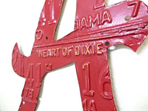 Custom Made Alabama Crimson Tide Roll Tide License Plate Sculpture