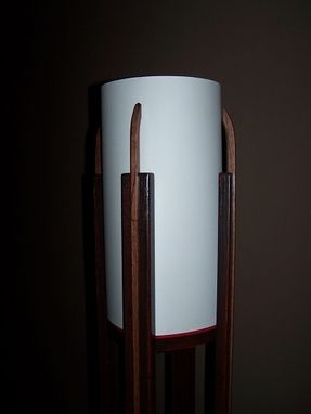 Custom Made Oak Floor Lamp