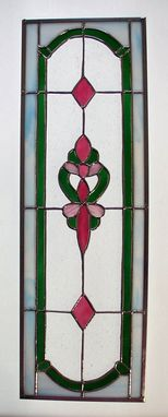Custom Made Dining Room Stained Glass Cabinet Insert