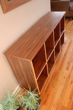 Custom Made Furnishings : Walnut Bookcase With Maple Edge Banding