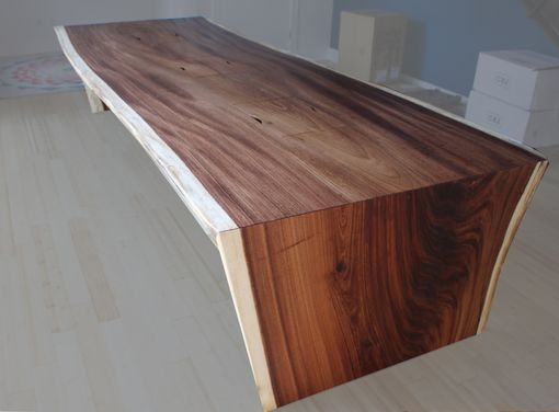 Custom Made Modern Conference Table Live Edge