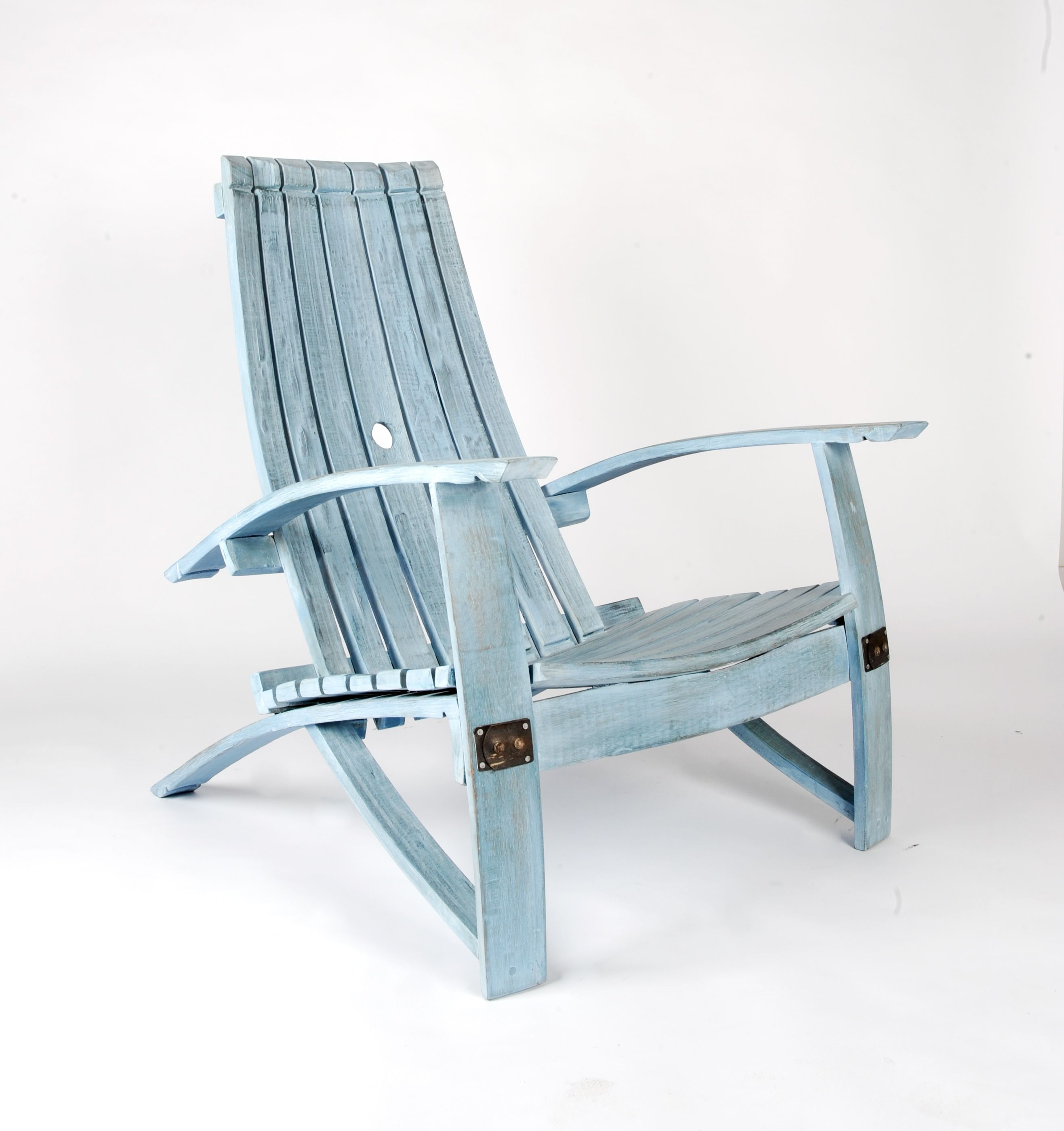 Buy A Handmade Wine Barrel Adirondack Chair Distressed
