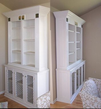 Custom Made Painted Bookcases With Motawi Tiles