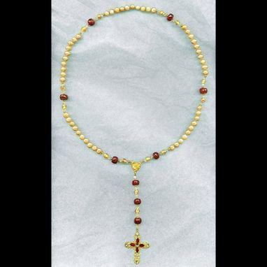 Custom Made Pearl & Ruby Rosary