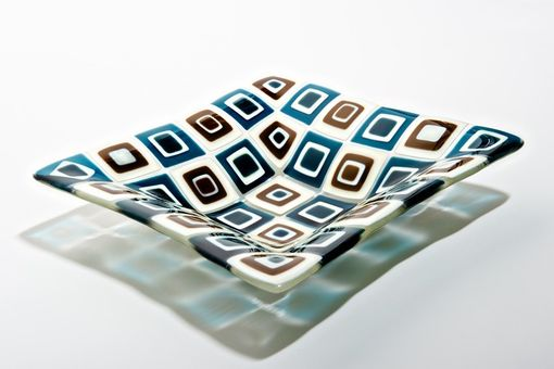 Custom Made Retro Bowl- Glass Dinnerware And Serving Pieces
