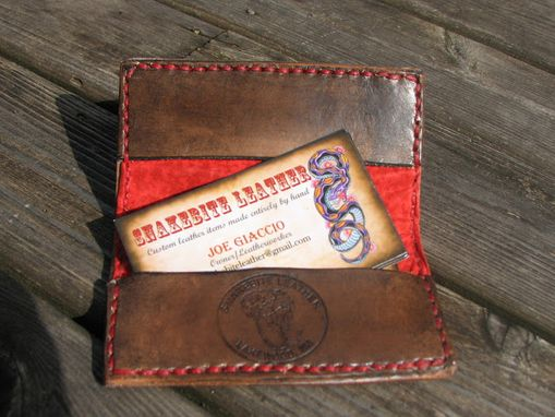 Custom Made Slim Business/Credit Card/ Id Wallet